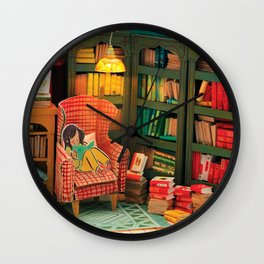 Reading Nook Wall Clock