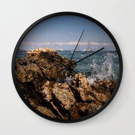 Rocks in Palma de Mallorca Wall Clock
