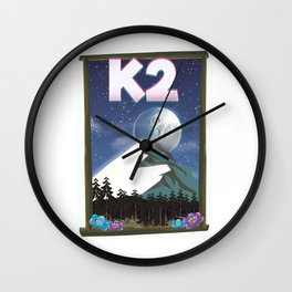 K2 Mountain travel poster Wall Clock
