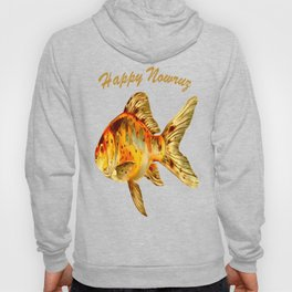 Elegant Happy Nowruz Goldfish Persian New Year Hoody