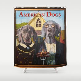 American Dogs Shower Curtain