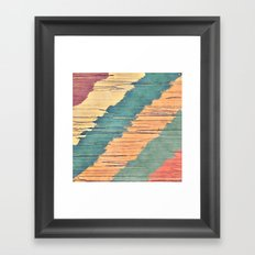 Abstract Shredded Stripes Framed Art Print