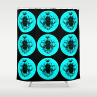 lions Shower Curtains featuring Lions by Abby Weiman