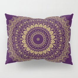 Harmony Circle of Gold on Purple Pillow Sham