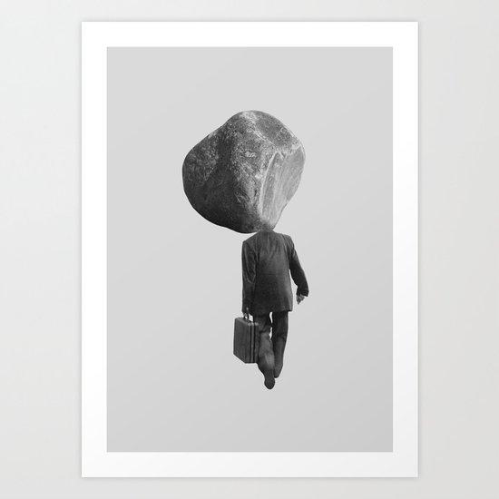 Rock Head Art Print