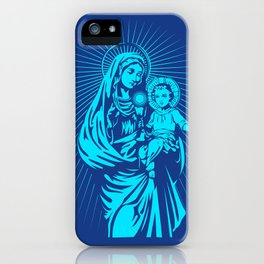 mary mother of god  iPhone Case