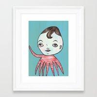 waldo Framed Art Prints featuring Waldo Octopus by turddemon
