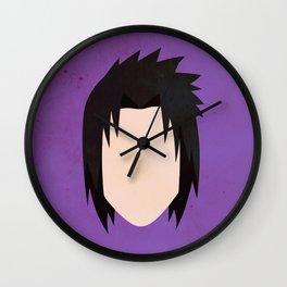 Sasuke Uchiha Simplistic Face Wall Clock