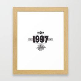 Born in 1997 Framed Art Print