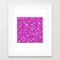 confetti Framed Art Prints featuring confetti  by Ariadne