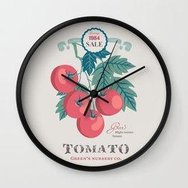 Veg Love Collection No.5 Tomato Wall Clock