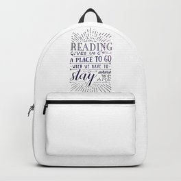 Reading gives us a place to go - inversed Backpack