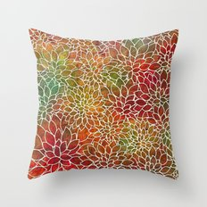 Floral Abstract 15 Throw Pillow