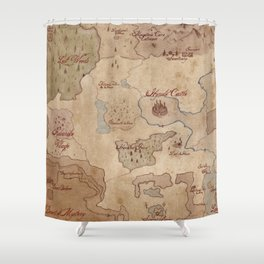 Map of Hyrule- Legend of Zelda Shower Curtain