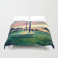 urban Duvet Covers featuring Urban // Slowtown by Samantha Crepeau