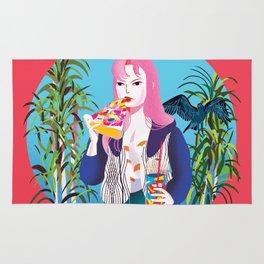 Pizza Girl Rug