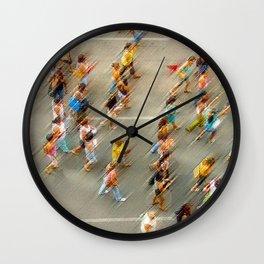 la foule people Wall Clock