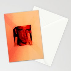 man with middle finger Stationery Cards