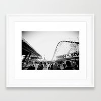 boardwalk empire Framed Art Prints featuring Boardwalk by Santino Cabrales