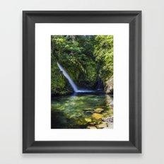 Llanberis Waterfall Framed Art Print