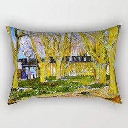 Avenue of Plane Trees near Arles Station, Vincent van Gogh Rectangular Pillow