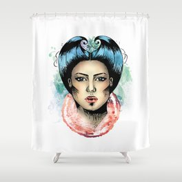 Queen of rough hearts Shower Curtain