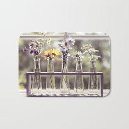 Windowsill Flowers Bath Mat
