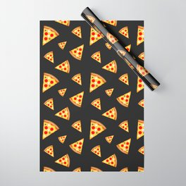 Cool and fun pizza slices pattern Wrapping Paper