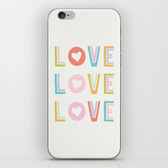 Love x3 iPhone & iPod Skin