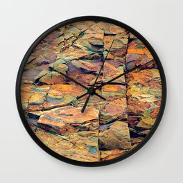 Maine Rocks Wall Clock