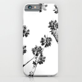 {2 of 2} Palm Trees = Happy // Black and White Summer Sky iPhone Case
