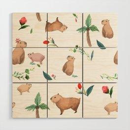 Capybara Wood Wall Art