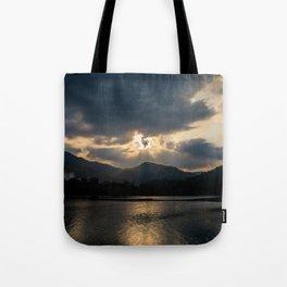 Shining Eye on the Sky Tote Bag
