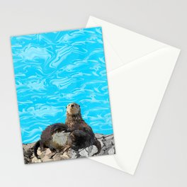 Where the River Meets the Sea Otters Stationery Cards