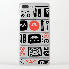 Mission Control Clear iPhone Case