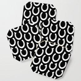 White Horseshoes Coaster