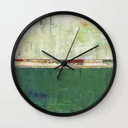 Limerick Irish Ireland Abstract Green Modern Art Landscape Wall Clock