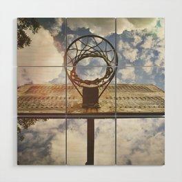 Hoosier Basketball Wood Wall Art