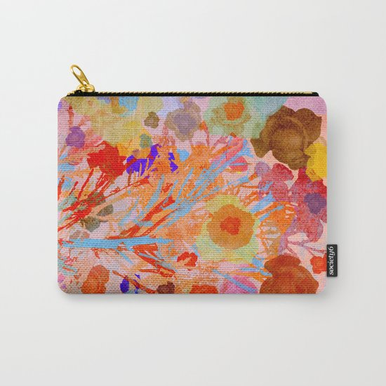 Floral abstract(46). Carry-All Pouch
