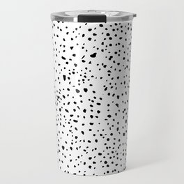 spotty dotty in black and white Travel Mug