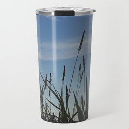 Green reeds large leaves Travel Mug