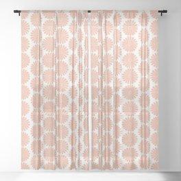 Floral Daisy Pattern XXXVIII Sheer Curtain