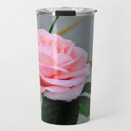 Soft Pink Rose Travel Mug