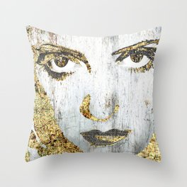 Silver Screen Bette Davis 1 Throw Pillow