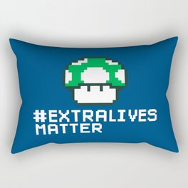 #Extra Lives Matter Rectangular Pillow