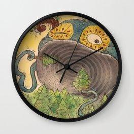 Tree Nom Nom Wall Clock