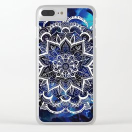 Queen Starring of Mandalas Navy Clear iPhone Case