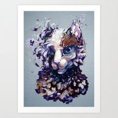 Brightheart Flowers Art Print