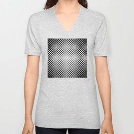 op art - black and white diamond grid Unisex V-Neck