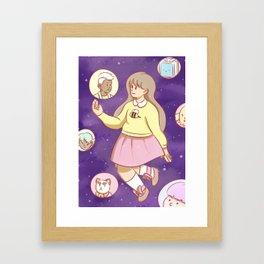 Bee Bubbles Framed Art Print